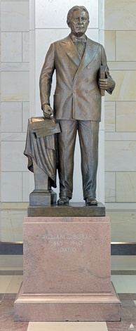 Statue of Borah in Statuary Hall in the Capitol by Bryant Baker, 1947
