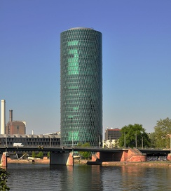 Westhafen Tower, home to the European Insurance and Occupational Pensions Authority (EIOPA)