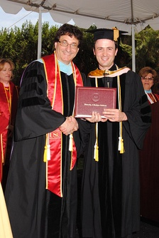 A graduate student from the University of Southern California receiving his Doctor of Musical Arts degree in 2011.