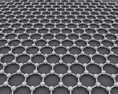 Graphene is an atomic-scale hexagonal lattice made of carbon atoms.