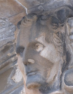 Face of Henry Bell on the former Municipal Buildings