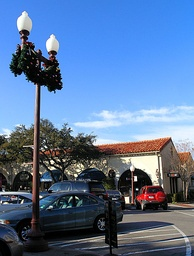 Highland Park Village during the Christmas holiday season