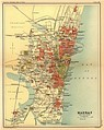 The presidency town of Madras in a 1908 map. Madras was established as Fort St. George in 1640.