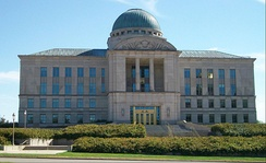The Supreme Court of Iowa, located on Court Avenue across from the state capitol in Des Moines, is the state's highest court.