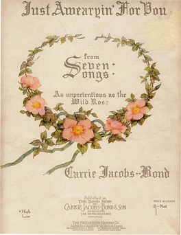 "Front cover of ""Just Awearyin' for You"" (published 1901), a widely selling example of a parlour song."