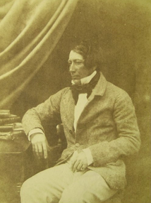 A salted paper calotype photograph of Scottish amateur golfer, golf administrator, and aristocrat James Ogilvie Fairlie, c. 1846–49