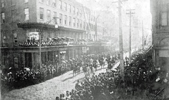 Funeral procession of Jefferson Davis in New Orleans