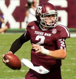 Manziel in 2012 with Texas A&M