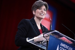 Ernst speaking at the 2015 Conservative Political Action Conference in National Harbor, Maryland on February 26, 2015.