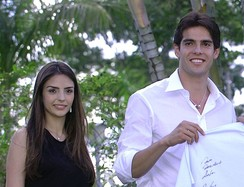 Kaká with his then wife Caroline in 2007