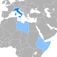 Use of the Italian language in Europe and former use in Africa