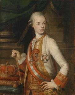 Leopold as Grand Duke of Tuscany, the protector of the Academy of Georgofili by Pompeo Batoni