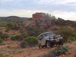 A Toyota Land Cruiser in the Gibson Desert