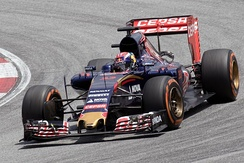 Verstappen driving for Toro Rosso at the 2015 Malaysian Grand Prix.