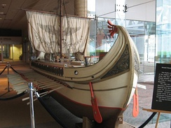 One of the miniature Roman triremes used in Ben-Hur in 1959.