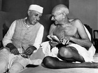 From the late 19th century, and especially after 1920, under the leadership of Mahatma Gandhi (right), the Congress became the principal leader of the Indian independence movement.[392]  Gandhi is shown here with Jawaharlal Nehru, later the first prime minister of India.