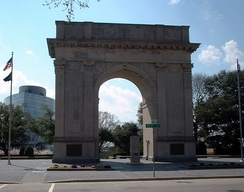 Newport News Victory Arch in downtown Newport News