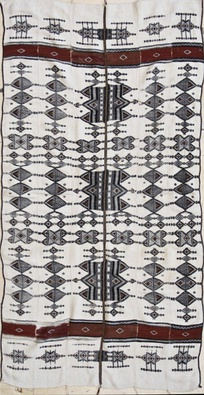Antique Fulani Blanket, Mali, estimated to be from the 1920s courtesy the WOVENSOULS collection
