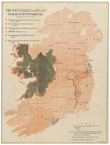 After Cromwell's victory, huge areas of land were confiscated and the Irish Catholics were banished to the lands of Connacht.
