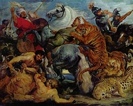 Peter Paul Rubens, Tiger and Lion Hunt, 1618