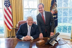 Schuette with President Donald Trump in 2018