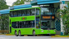 The MAN A95 is one of the newest double-decker buses purchased for the Bus Contracting Model.