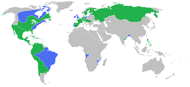 All the participants of the Seven Years' War   Great Britain, Prussia, Portugal, with allies   France, Spain, Austria, Russia, Sweden with allies
