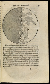An illustration of the Moon from Sidereus Nuncius, published in Venice, 1610