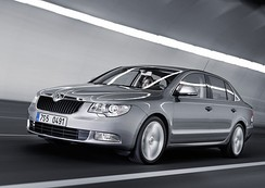 Škoda Auto is one of the largest car manufacturers in Central Europe. A Škoda Superb is pictured.