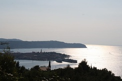 The town of Izola in the Gulf of Koper, southwestern Slovenia
