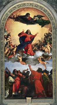 On 1 November 1950, Pius XII defined the dogma of the Assumption (Titian's Assunta (1516–1518) pictured).