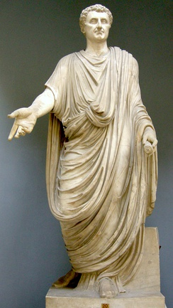 The toga, shown here on a statue restored with the head of Nerva, was the distinctive garb of Roman male citizens.