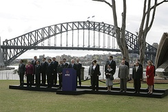 World leaders with Prime Minister John Howard in Sydney for the 2007 APEC conference