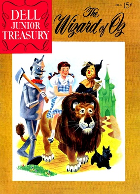 The Wizard of Oz (Dell Comics, June 1956). Cover art by Mel Crawford.
