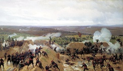 Capturing of the Turkish redoubt during the Siege of Plevna (1877)