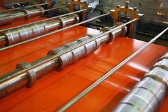 Профилирование стальных листов с полимерным покрытием методом холодной обкатки