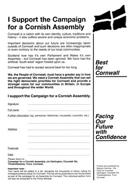 Picture of Mebyon Kernow's assembly petition