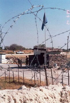 UNTAG checkpoint at Ondangwa, June 1989.