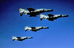 561st Tactical Fighter Squadron - F-4G Phantom II formation, 1982