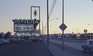 The old marquee in 1962, with Debbie Reynolds headlining, and Billy Williams, along with Roberta Linn on the under-billing