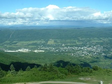 A view of Adams from atop Mount Greylock
