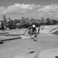 Air in front of the clouds - Far Rockaway Skate Park - 2019