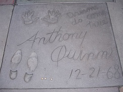 Anthony Quinn footprints outside the Chinese Theatre