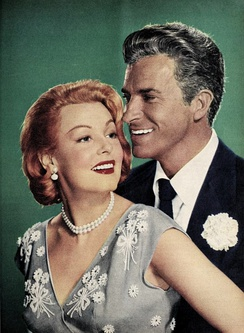 Arlene Dahl and Fernando Lamas, by Virgil Apger, 1954