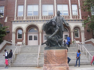 The high school that King attended was named after African-American educator Booker T. Washington.