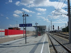 Typical commuter rail station south of Vienna