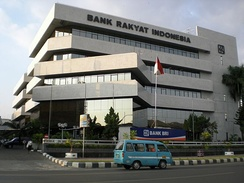 Bank Rakyat Indonesia's Makassar Branch Office, one of the largest banks operated in the city.