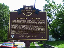 Birthplace marker in North Bend, Ohio