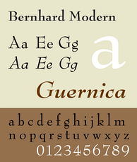 A sample of Bernhard Modern.