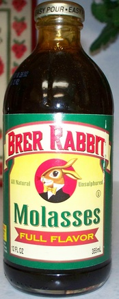 A bottle of molasses